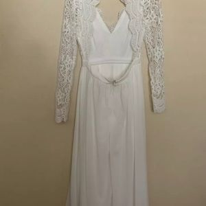 "Dresses - Lulus ""awaken my love"" white lace dress Small"